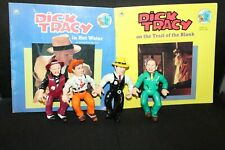 Dick Tracy Playmates Lot of 4 action figures Plus Books