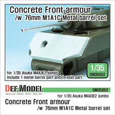 DEF. Model, DM35052, M4A3E2 Etats-Unis béton Front Armour/W M1A1C Barrel Set, 1:35