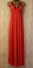 House of Dereon V Neck Strappy Straps Halterneck Jersey Maxi Party Dress 12 40 M