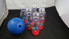 Little Tikes Bowling Ball Clear Rattle 6 Pin Preschool Toddler Tots Toy Game