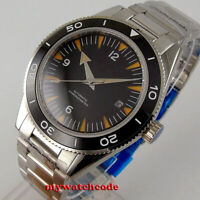 41mm sterile black dial miyota Automatic mens watch ceramic bezel sapphire glass