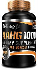 BioTech USA 1000mg AAKG Pump Muscle Mega Hardcore L-Arginine, Nitric Oxide Pills