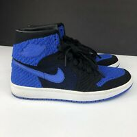 "Nike Air Jordan 1 Retro Hi Flyknit Size 6Y Shoes ""Royal""Black White 919702 006"