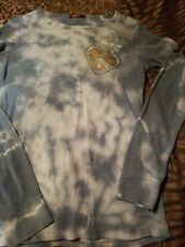 T Party Women Long Sleeve Tshirt With Rhinestones Accents Size Large