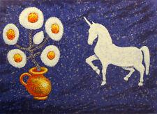 "Douglas Mazonowicz ""The Contemplative Unicorn"" Signed Serigraph Art UK orig CoA"
