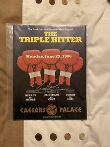 SUPERB RARE SIGNED BARRY MCGUIGAN VS STEVE CRUZ VINTAGE ON SITE PROGRAMME 1986