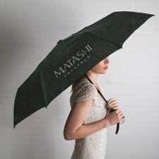 Matashi Sturdy Ergonomic 3 Fold Travel Umbrella w/ Large Crystal Embedded Handle