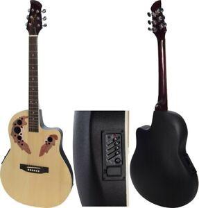 "DE Elektro Akustische Gitarre 4/4 size 41"" M-tunes MTFO229CE Cutaway"