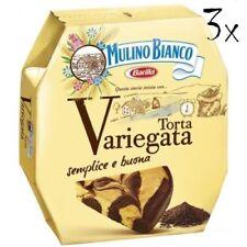 3x Mulino Bianco Torta pie Variegata mit Schokolade schoko tropfen Kuchen 400g