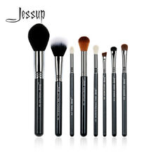 Jessup Pro Professional Cosmetic Brush Set Powder Blush Contour Brow Shadow 8Pcs