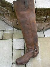 Sendra Thigh Biker Boots 7994 Antique Brown (M.D. T.L.) Size 7,5 = 41