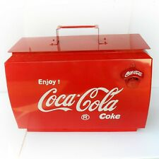 Vintage Style Coca Cola Advertising Cool Box with Bottle Opener