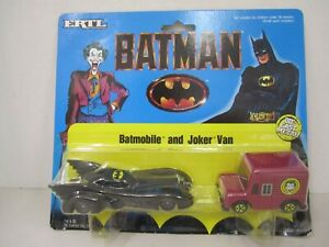 "1989 Ertl  Batman - ""BATMOBILE and JOKER VAN""  Diecast - # 2497 - New"