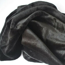 "Black FAUX FUR FABRIC costumes cosplay crafts blankets backdrops 60"" wide BTY"