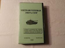 Vietnam Veterans Then & Now combat Veterans tell their stories. Vhs