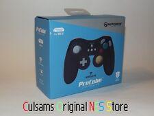 BLACK WIRELESS PROCUBE GAMECUBE STYLE CONTROLLER FOR NINTENDO Wii U & GUARANTEE