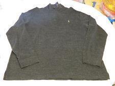Polo Ralph Lauren 1/4 zip sweater L/S shirt 3XB Big Estate Rib Mens Black Hthr