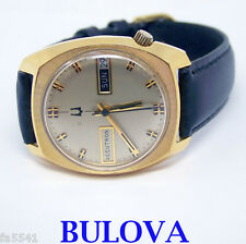 Vintage 10k GF BULOVA ACCUTRON DAY DATE Watch 1976* EXLNT Condition SERVICED