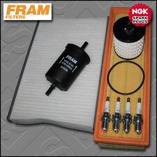 Kit De Servicio Citroen C2 1.1 8v Gasolina Fram Aceite Aire combustible cabina Filtro Plug (04-13)