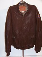 FREIGHTLINER TRUCKS SOFT SUEDE LEATHER BOMBER JACKET! BROWN! MADE IN USA! 44L