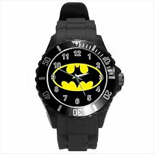 NEW* HOT BATMAN Unisex Black Round Sport Wrist Watch Gift