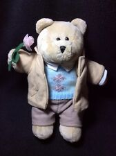 Starbucks Bearista Bear 2006 45th Plush Valentine Boy Rose Plush Suit