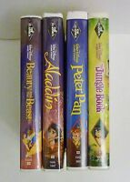 Disney Black Diamond Edition VHS Beauty and Beast Aladdin Peter Pan Jungle Book