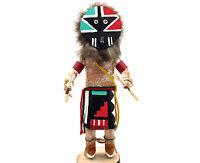"Native American Kachina Doll ""Chief"" Handmade Signed Indian Artist"