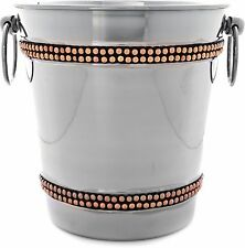 Copper Riveted Champagne Ice Bucket with Handles by Home Essentials