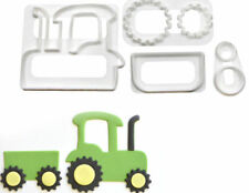 Tractor with Trailer Cookie Cutter 4 pc Set