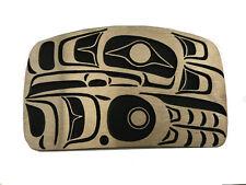 Vtg Bronze Eagle Belt Buckle Native American Totem Pole Northwest Art Bird Gold
