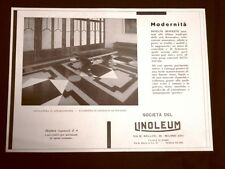 Pubblicità dei 1932 Pavimento Linoleum ad intarsio