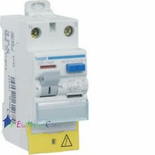Interrupteur différentiel 2P63A 30 mA type A à vis bornes alignées Hager CDA769F