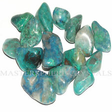 8 x Chrysocolla Tumblestones 18mm-22mm Crystal Gemstone Wholesale Bulk