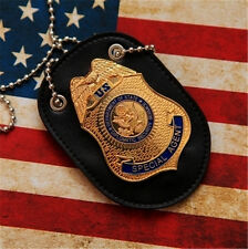 US Special Agent DSS Fast Furious Luke Hobbes Badge & Belt Holder Chain Emblem