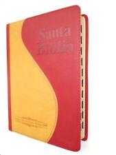 """Biblia Antigua Version RV 1909 Rojo/Mostaza Indice letra grande """"Personalizada"""""""