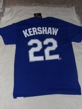 LA Los Angeles Dodgers Kershaw #22 Men's Small Jersey Style T-Shirt By MLB NWT