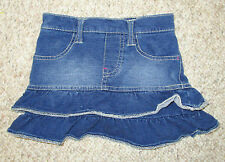 Children's Place Blue Denim Jeans Tiered Flared Skirt 3T