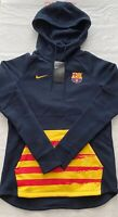 NIKE AUTHENTIC FC BARCELONA WOMENS FLEECE PULLOVER FOOTBALL WOODIE NEW TAGS M