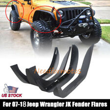 Hooke Road For 07-18 Jeep Wrangler JK Steel Front Rear Flat Fender Flares