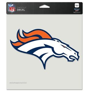 "Denver Broncos NFL 8""x8"" Decal Sticker Primary Team Logo Die Cut Car Auto"