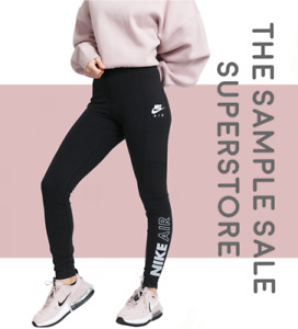Nike Air Women's High-Rise Tight Fit Sportswear fitness Leggings Black RRP $45
