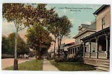 Lower Market Street from 3rd Street in Warren PA 1912
