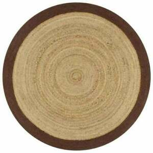 Rug 100% Natural Jute Reversible Rug Braided Style Modern Rustic Living Area Rug