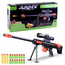 ORIGINAL NEW 2018 Nerf Gun Toy 15 Pcs Soft Bullet Military Sniper Kids Gift Snip
