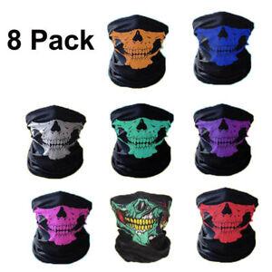 8 Pcs Ghost Biker Skull Hood Face Mask Motorcycle Ski Balaclava CS Bike MASK