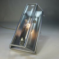 Art Deco Wandleuchte Vintage Wandlampe Glasscheiben Facettenschliff Flurlampe