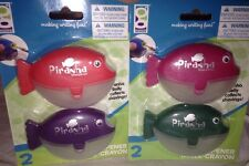 Geddes PIRANHA Fish Pencil Sharpener 4pc Lot Red, Purple, Pink, Green School Fun