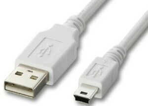 """usb STANDARD A to 8 PIN MINI B cable M to M 60""""/5' digital camera mp3 pda cell"""