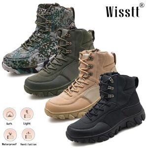 Men's Non Slip Military Tactical Boots Patrol Work Jungle Desert Hiking Shoes